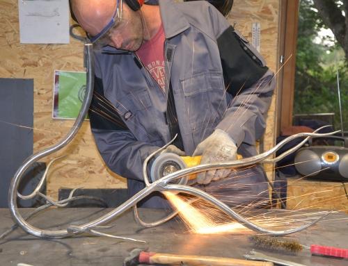 Laurent Chabanel est devenu ferronnier sur les hauteurs du Velay