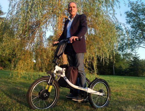 Le vélo debout électrique est Vellave !